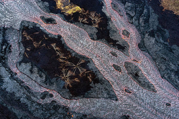 Magma Wall Art - Photograph - River Of Lava by Christopher Johnson