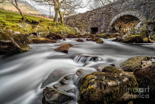 North Wales Wall Art - Photograph - River Ogwen Bridge by Adrian Evans