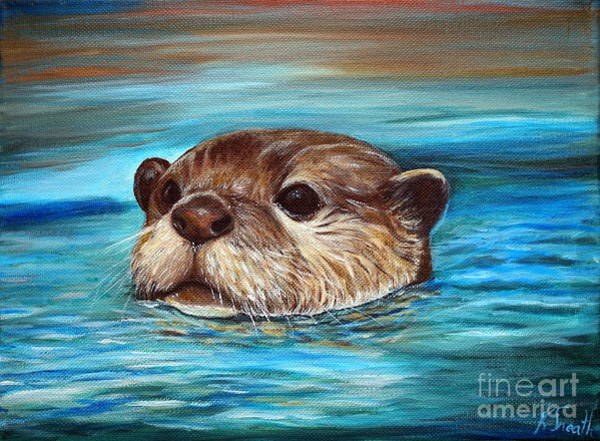21f699563e87 River Otter Painting - River Otter by Kirsten Sneath