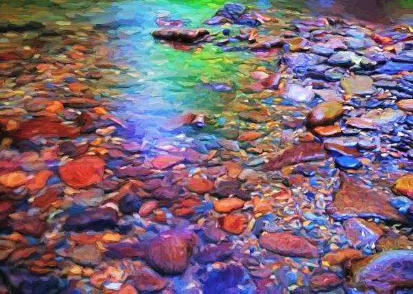 Digital Art - River Pebbles by Charmaine Zoe