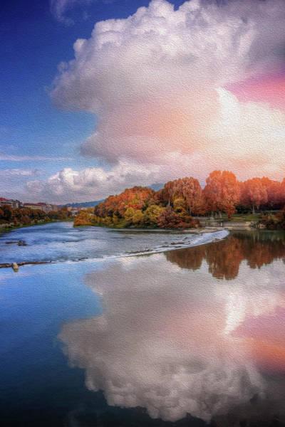 Riverside Photograph - River Po Turin Italy  by Carol Japp