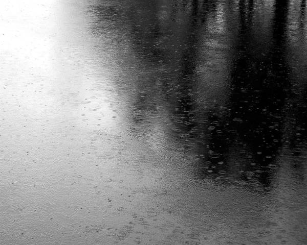 Photograph - River Rain  Naperville Illinois by Michael Bessler