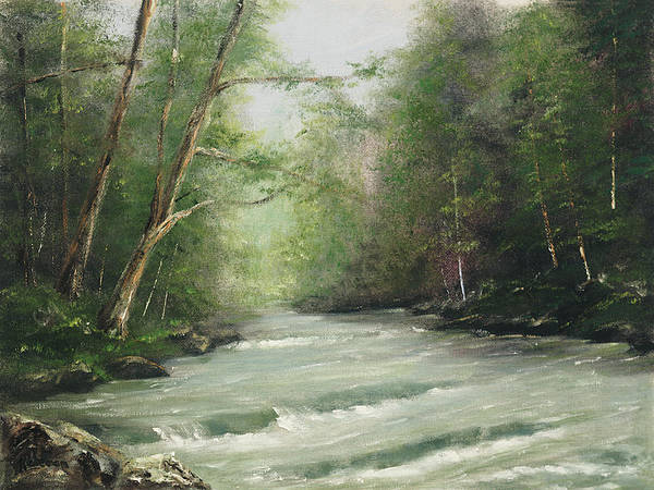 Painting - River Retreat by Rebecca Kimbel