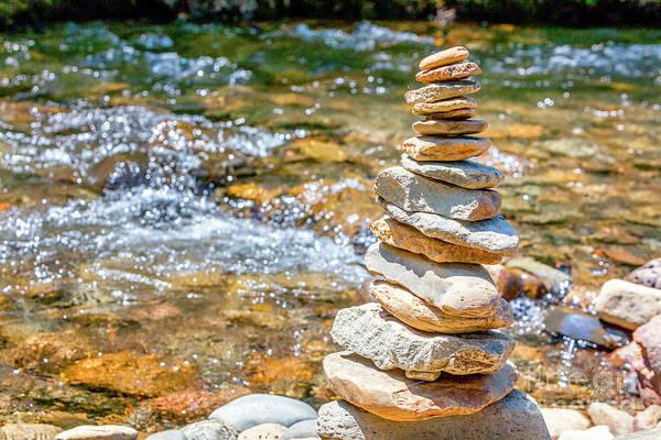 Photograph - River Rock Art by David Millenheft