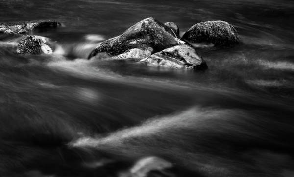 Nantahala Photograph - River Rock In Black And White by Greg and Chrystal Mimbs