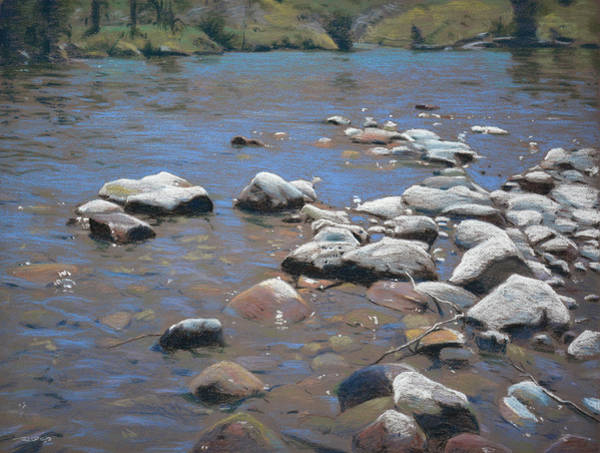 Pastel - River Rocks by Christopher Reid