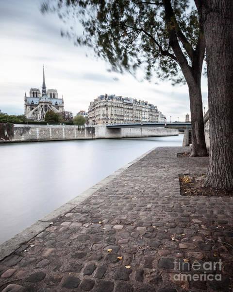 Photograph - River Seine Walk by Brian Jannsen