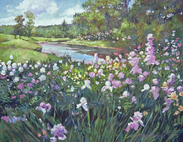 Painting - River Spring Garden by David Lloyd Glover