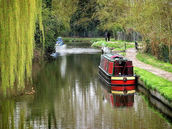 Houseboat Photograph - River Stort In April by Gill Billington
