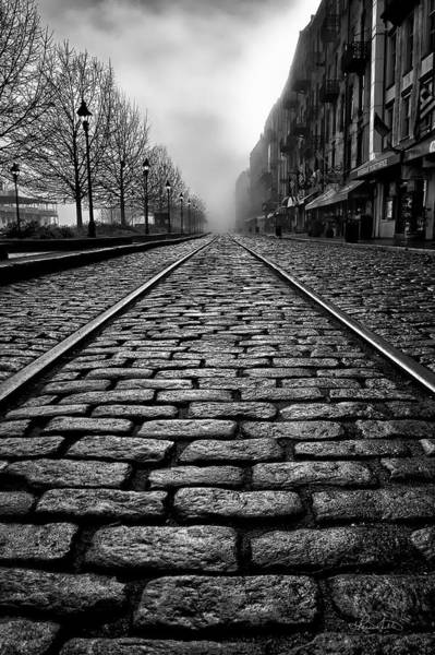 Photograph - River Street Railway - Black And White by Renee Sullivan
