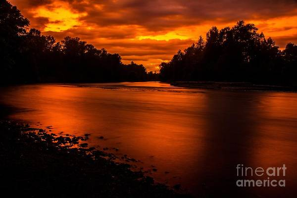 Photograph - River Sunset 2 by Michael Cross