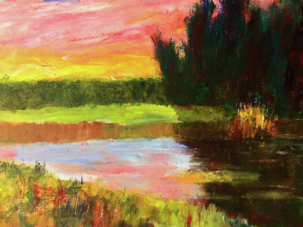 Port Townsend Painting - River Sunset by James Murphy