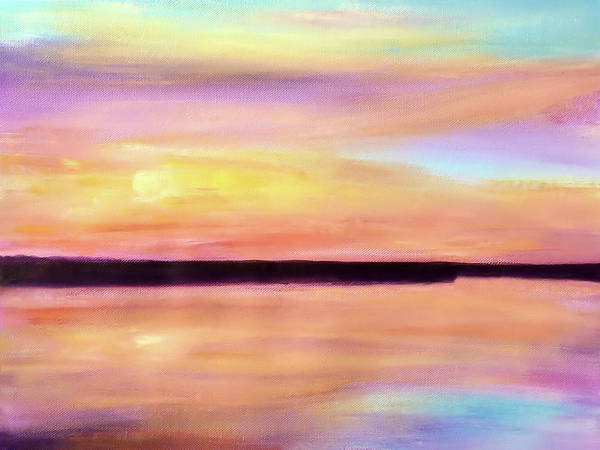 Painting - River Sunset by Valerie Anne Kelly