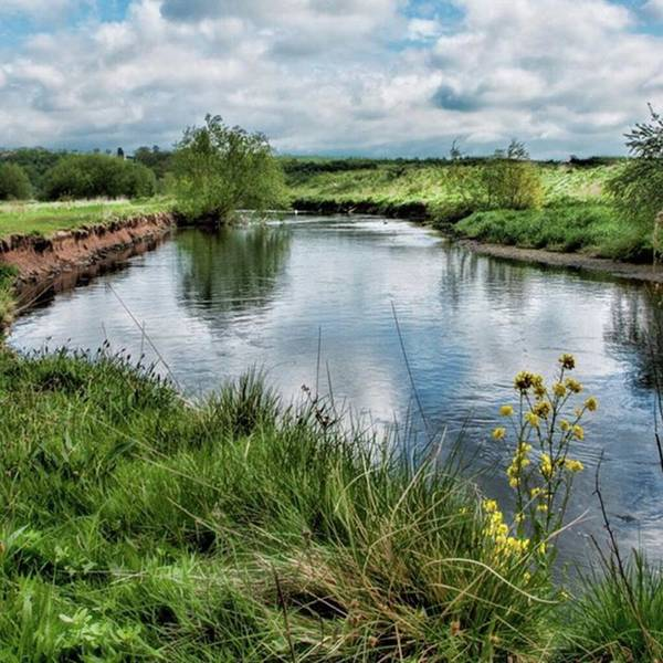 Sky Photograph - River Tame, Rspb Middleton, North by John Edwards