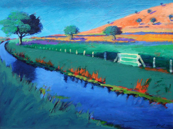Riverbank Painting - River Teme by Paul Powis