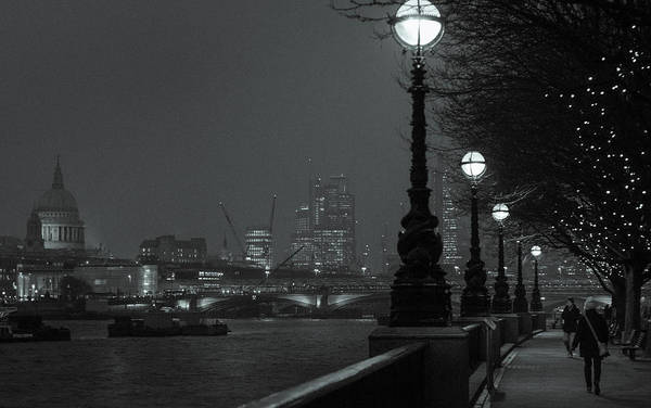Art Print featuring the photograph River Thames Embankment, London 2 by Perry Rodriguez