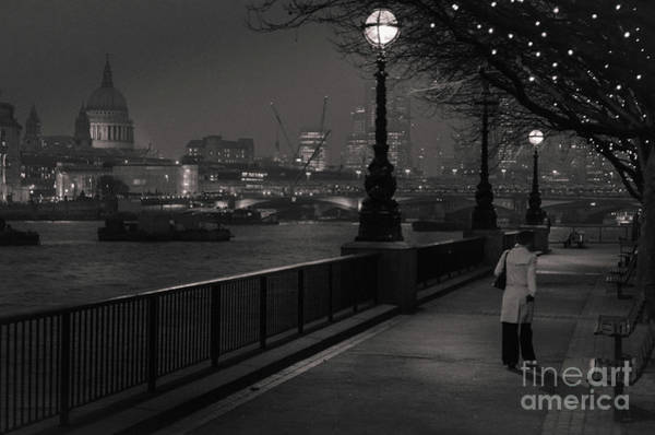 Art Print featuring the photograph River Thames Embankment, London by Perry Rodriguez