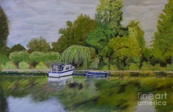 Pastel - River Thames Hampton by Lance Sheridan-Peel
