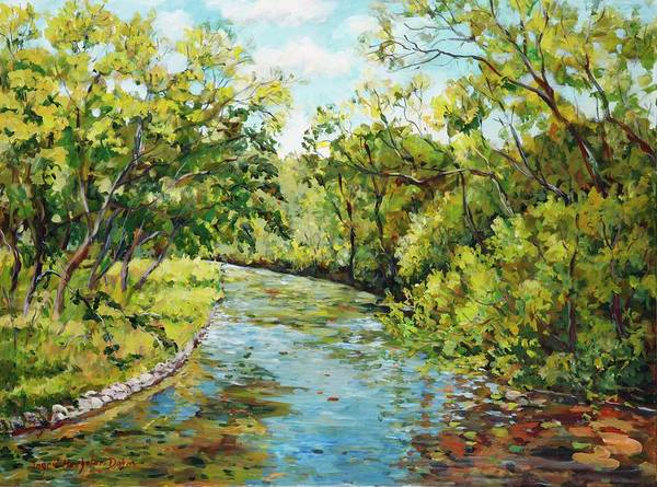 Painting - River Through The Forest by Ingrid Dohm