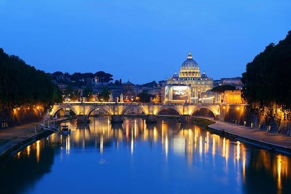 Photograph - River Tiber In Rome by Songquan Deng