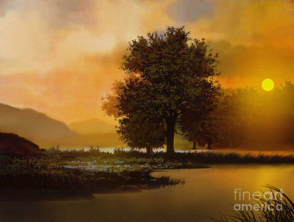 Lone Tree Painting - River Tree by Robert Foster