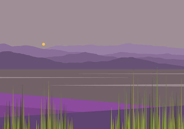 Semis Digital Art - River Valley Hills by Val Arie