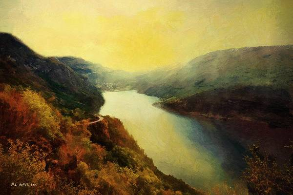 Painting - River Valley Sunrise by RC DeWinter