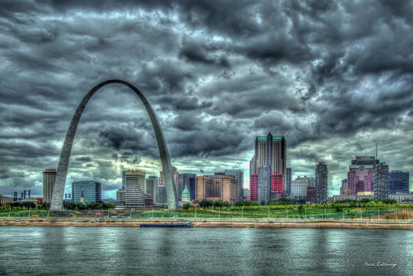 Photograph - River View Gateway Arch St Louis Missouri Cityscape Art by Reid Callaway