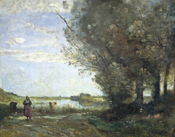 Painting - River View by Jean-Baptiste-Camille Corot