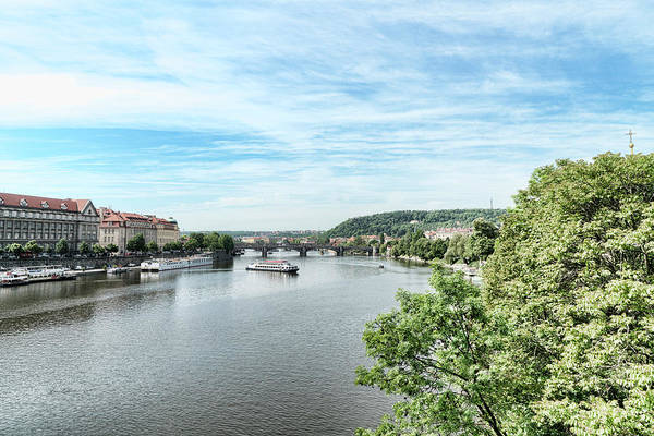 Photograph - River Vltava by Sharon Popek