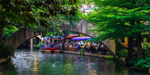 River Walk Dining Art Print