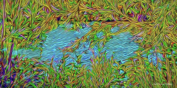 Digital Art - Riverbank Flora by Joel Bruce Wallach