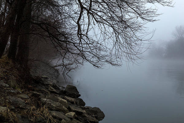 Photograph - Riverbank In The Fog by Pete Hendley