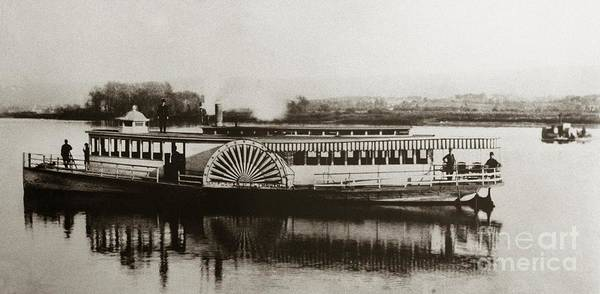 Riverboat  Mayflower Of Plymouth   Susquehanna River Near Wilkes Barre Pennsylvania Late 1800s Art Print