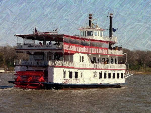 Wall Art - Photograph - Riverboat Queen - Digital Art by Al Powell Photography USA