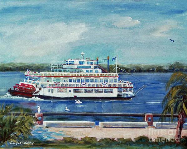 Riverboat Painting - Riverboat Savannah by Doris Blessington