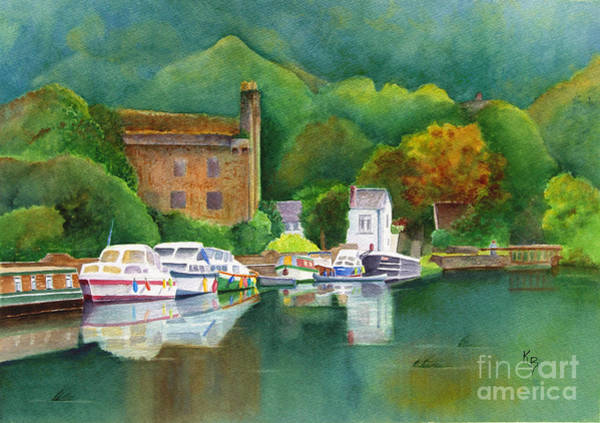 Painting - Riverboats by Karen Fleschler