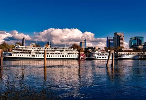 Riverboats Of Sacramento Art Print
