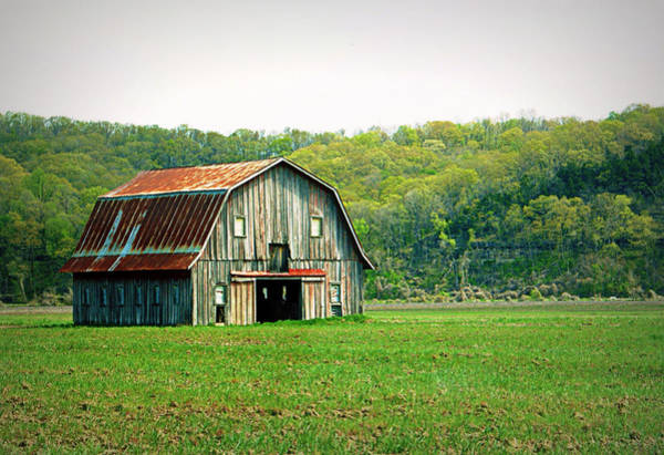 Photograph - Riverbottom Barn In Spring by Cricket Hackmann