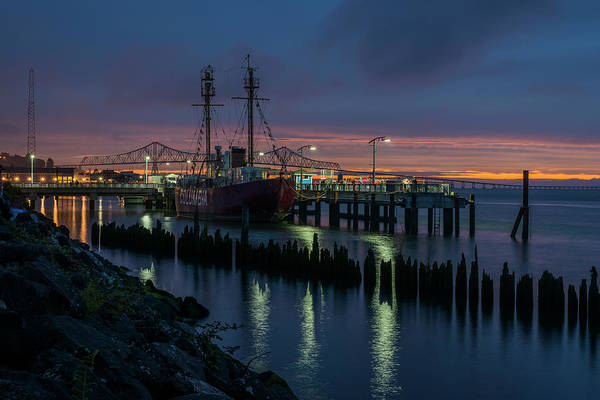 Photograph - Riverfront At Dusk by Robert Potts