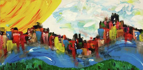 Decorative Wall Art - Painting - Riverfront by Mac Worthington