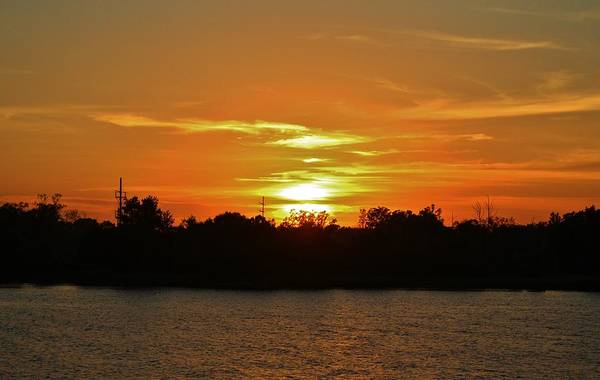 Photograph - Riverfront Sunset by Cynthia Guinn