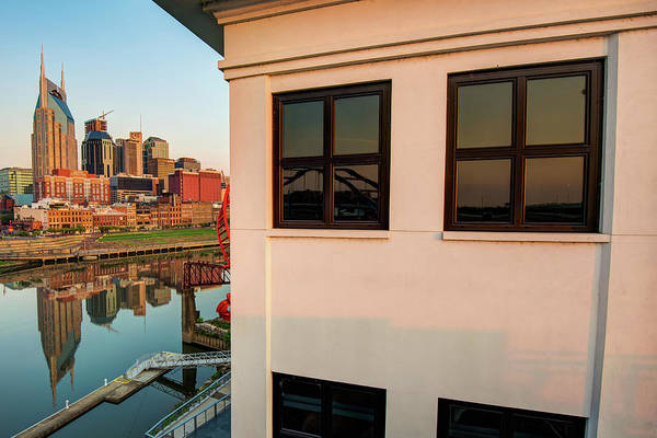Photograph - Riverfront View Of The Nashville Skyline by Gregory Ballos