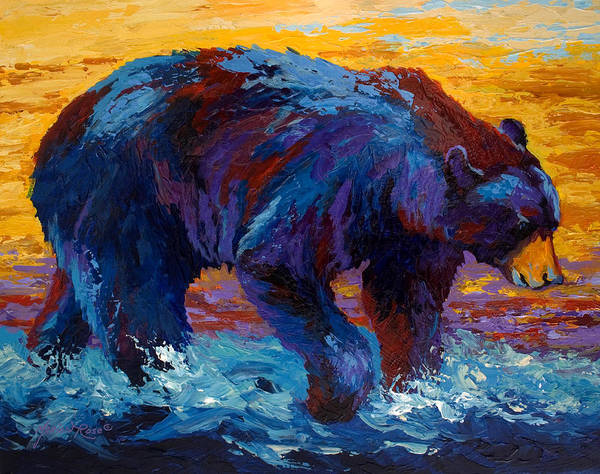 Cub Painting - Rivers Edge II by Marion Rose