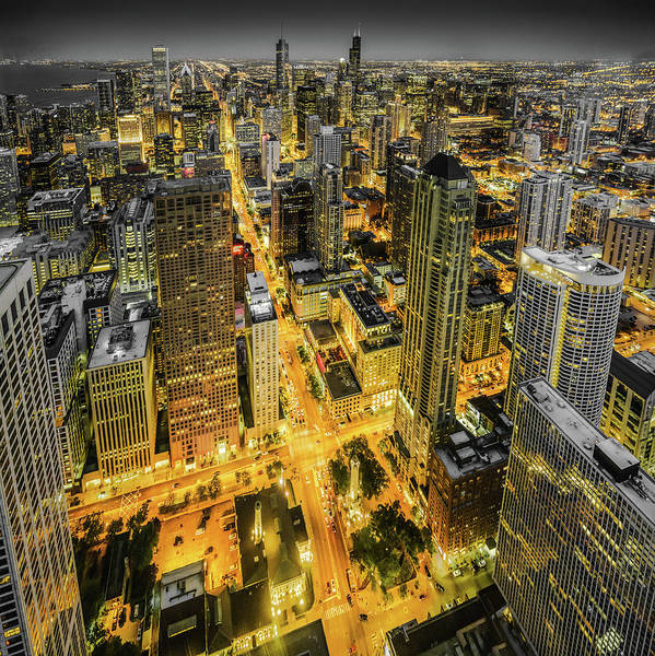 Photograph - Rivers Of Light - Chicago Skyline by Scott Campbell
