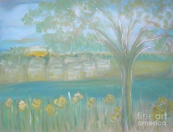 Pastel - Riverside Hazy Dawn by Karen Jane Jones