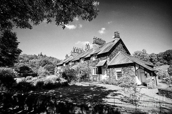 Wall Art - Photograph - Riverside House Skelwith Bridge Holiday Cottages Traditional Lakeland Stone Construction Lake Distri by Joe Fox
