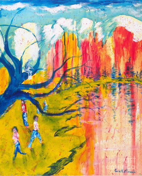 Painting - Riverside by Walt Brodis