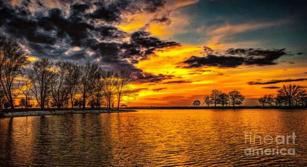 Wall Art - Photograph - Riverview Beach Park Sunset by Nick Zelinsky