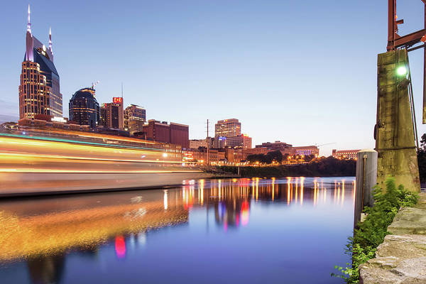 Photograph - Riverview Skyline Of Nashville Tennessee by Gregory Ballos